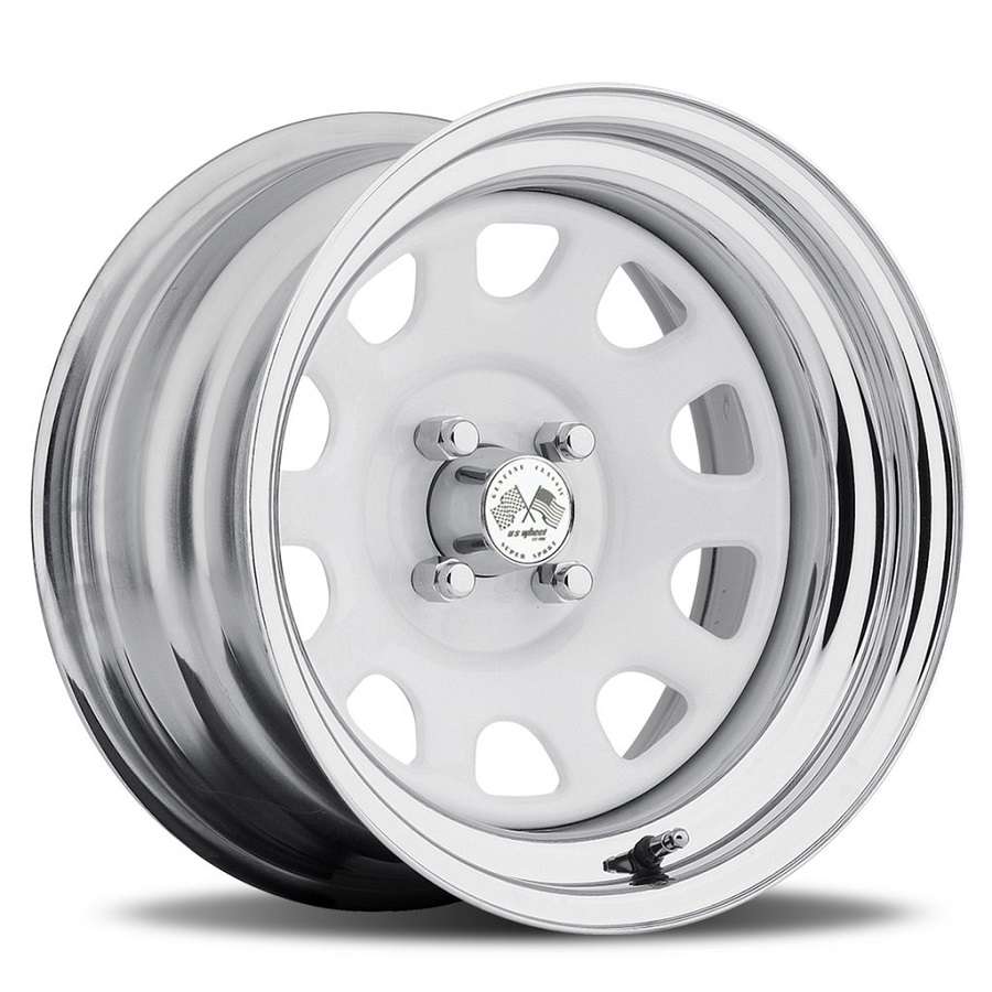 Daytona FWD - White Center/Chrome Hoop (Series 022WC)
