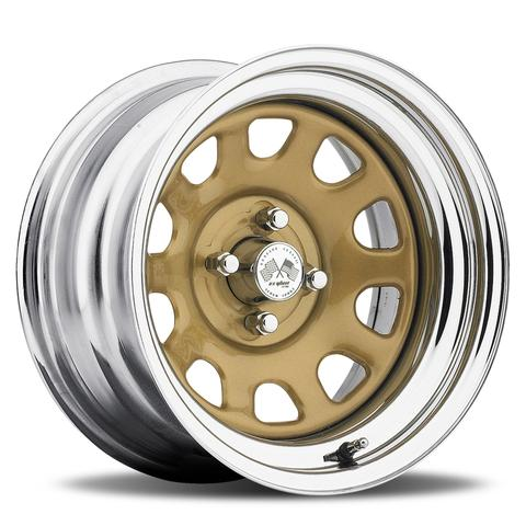 Daytona FWD - Gold Center/Chrome Hoop (Series 022GC)