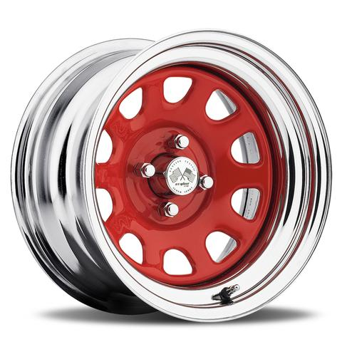 Daytona FWD - Red Center/Chrome Hoop (Series 022RC)